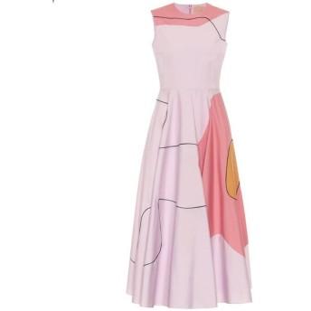 ロクサンダ Roksanda レディース ワンピース ミドル丈 ワンピース・ドレス printed cotton midi dress Lilac/Rose/Caramel