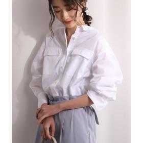 ビス ポプリンドロップショルダーシャツ レディース ホワイト(10) M 【ViS】