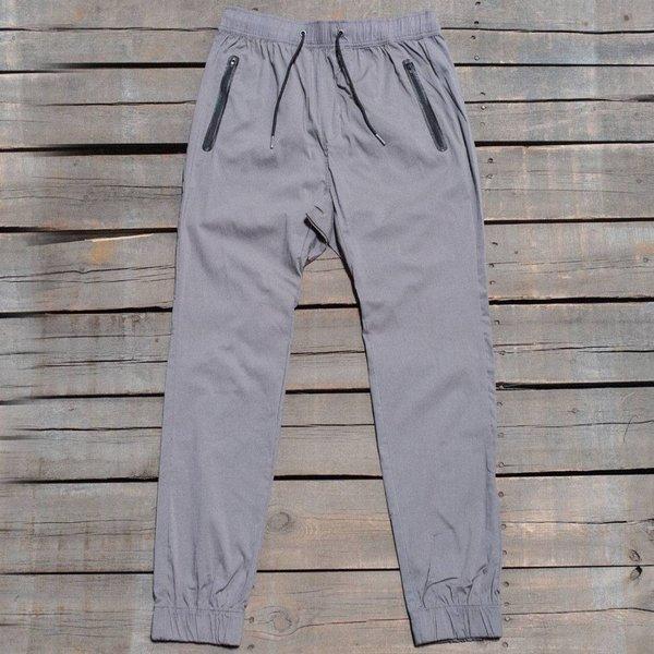 Zanerobe Men Montage Dropshot Zip Jogger Pants gray grey marle