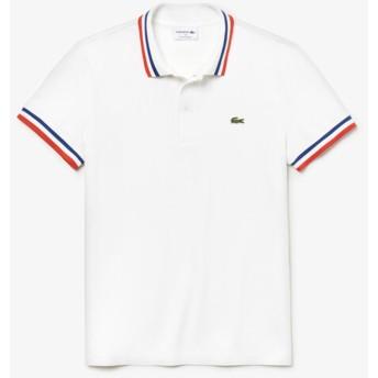 [ラコステ]メイドインフランス ポロシャツ (半袖) ホワイト S(003)