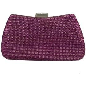 女性のレディースファッションラインストーンクラッチの財布のイブニングバッグフォーマルカクテルパーティー結婚式ウェディングブライダルハンドバッグディナーバッグ イブニングハンドバッグ、 (Color : Red)