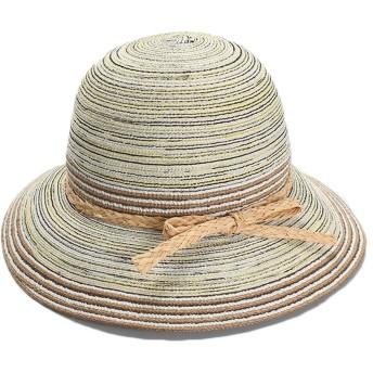 YESONEEP 女性の帽子牧歌的な快適な綿糸折りたたみドーム流域帽子漁師帽子夏バイザー夏屋外日焼け防止ワイド帽子サンシャインビーチキャップ (色 : Light yellow, Size : M(56-58))