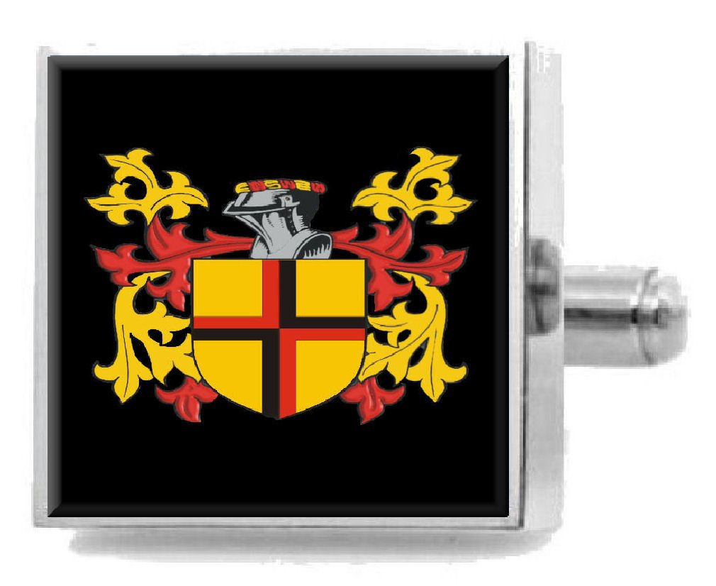 Select Gifts Smales England Heraldry Crest Sterling Silver Cufflinks Engraved Message Box