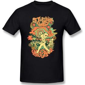 KEATAR Sturgill Simpson 男性用 New 半袖 T-Shirt Basic コットン シャツ ブラック