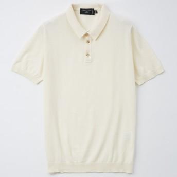 [SHIPSxロベルトコリーナxJALショッピング]ニットポロ ホワイト(ICE) L