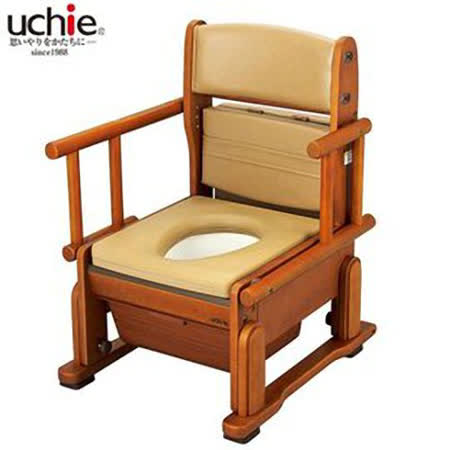 【海夫健康生活館】uchie 日本進口 輕巧便盆椅 (自在式把手)