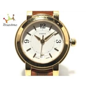 コーチ COACH 腕時計 W018 レディース 白 新着 20200106