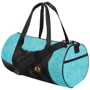 Chovy ボストンバッグ メンズ 大容量 スポーツバッグ 旅行バッグ レディース 男女兼用 黒猫 ネコ 可愛い かわいい 運動 スポーツ 旅行 出張 バッグ ジムバッグ ボストン ショルダーバッグ 2way シューズ収納