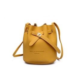 女の人 ヴィトン バッグ ミニセン部門パケットモバイルメッセンジャーバッグバケットバッグ トートバック (Color : Yellow)