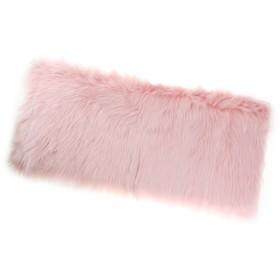 FLAMEER 洗濯できる 厚い 敷物 5cm 山 椅子カバー 床 枕元 敷物 - ライトピンク