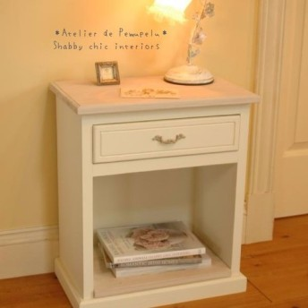【Side Table White】