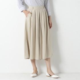 リネンレーヨン素材のフレアスカーチョ【M~4L】