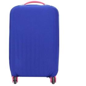 スーツケースカバー ソリッドカラーウォッシャブルラゲッジカバー トロリーケースカバー (Color : Blue, Size : S)