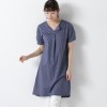 オープンカラーシャツ風ワンピース