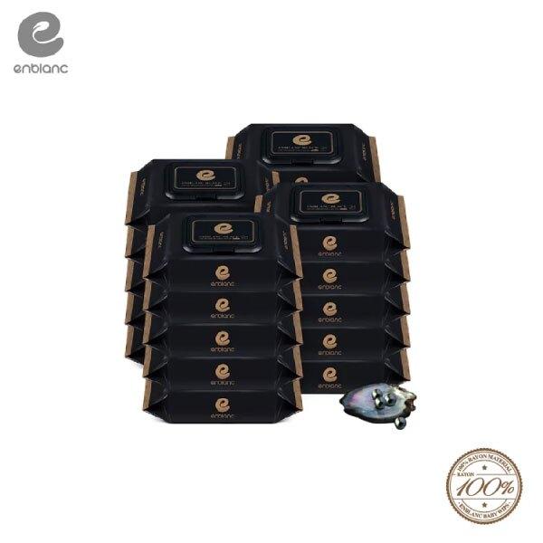 Enblanc   極柔純水超厚有蓋輕裝濕紙巾-黑珍珠萃取物   24抽20入