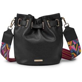 Nunulu バケツバッグ本物の革クロスボディバッグトップハンドルハンドバッグサッチェル財布トートバッグ女性のためのショルダーバッグ (色 : ブラック)