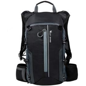 バックパック 大容量 自転車 旅行装備 通気 カジュアル アウトドア 収納 耐用 防水 耐磨耗 軽量 男女兼用 (ブラック)