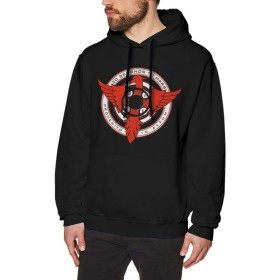 DRAKEA 30 Seconds to Mars Logo Long Sleeve Men's Hoodie Sweatshirt Hood Black
