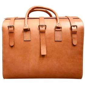 ZXF 革の男性のヨーロッパの茶色の革のスーツケース大容量の第1層とアメリカのレトロなファッション紳士ギフトは50  33  42センチメートルを手作り 旅行する