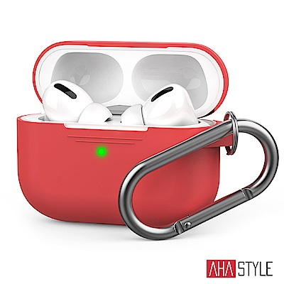 AHAStyle AirPods Pro 輕薄掛勾保護套(掛鉤款)紅色