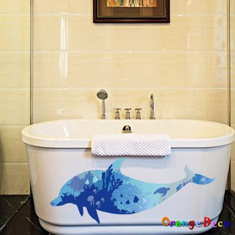 【橘果設計】北歐剪影海豚 壁貼 牆貼 壁紙 DIY組合裝飾佈置