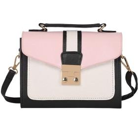 女の人 ヴィトン バッグ メッセンジャーカジュアルなハンドバッグポータブルショルダーバッグは色パケットの携帯電話を打ちます トートバック (Color : Pink)