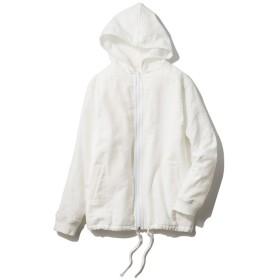 [ウチノxJALショッピング]マシュマロパイル&ガーゼヨットパーカ ホワイト M