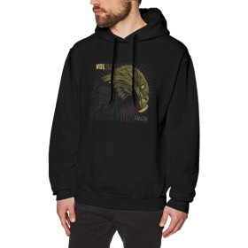 DRAKEA Volbeat-Fallen Logo Durable Men's Hoodie Sweatshirt Hoodie Black