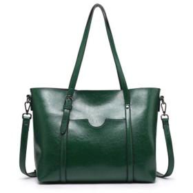 女の人 ヴィトン バッグ バルクオイルスキンポータブルショルダーバッグ斜めのパッケージ トートバック (Color : Green)