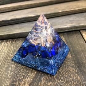 【新生活を始める方へ】ピラミッド型Ⅱ オルゴナイト ラピスラズリ&カイヤナイト