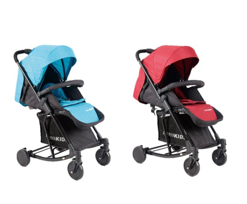 【PAPAYA KIDS馬克文生】T609 透氣型手推嬰幼兒車-紳士藍/淑女紅
