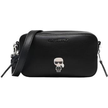 《セール開催中》KARL LAGERFELD レディース メッセンジャーバッグ ブラック 牛革 100% K/Ikonik Metal Pin Camera Bag
