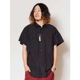 (CAYHANE/チャイハネ)【チャイハネ】グングニルMEN'Sシャツ IDS-9119/メンズ ブラック