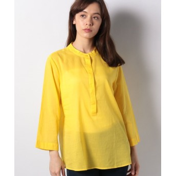 (BENETTON (women)/ベネトン レディース)コットンスタンドカラーシャツ・ブラウス/レディース イエロー
