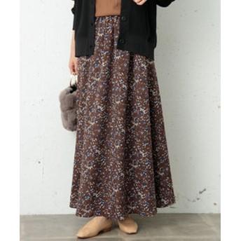 【URBAN RESEARCH:スカート】フラワープリントロングスカート