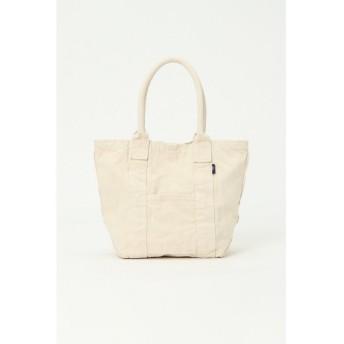 (LBC/エルビーシー)製品染めフロントポケットトートバッグ M/レディース ホワイト