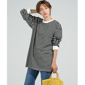 (LIPSTAR/リップスター)ロング長袖Tシャツ/レディース ブラック系その他