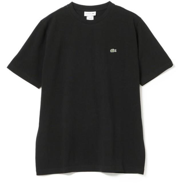 (BEAMS MEN/ビームス メン)LACOSTE / 鹿の子クルーネックTシャツ/メンズ 031_BLACK