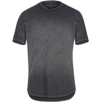 《セール開催中》JOHN VARVATOS ★ U.S.A. メンズ T シャツ スチールグレー S コットン 100%