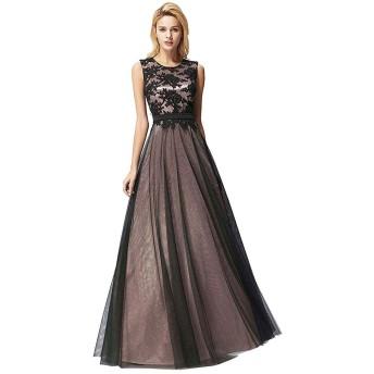 Fashion Ya ロングドレス 演奏会 イブニングドレス パーティードレス ブライズメイド ドレス キャバ シフォンロングドレス ウェディングドレス 結婚式 ドレス
