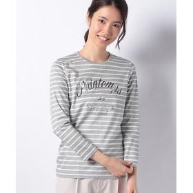 【SALE(伊勢丹)】<LA JOCONDE>【洗える】プリントボーダーTシャツ グレー【三越・伊勢丹/公式】