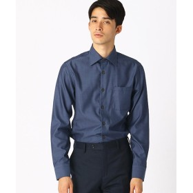 (COMME CA ISM MENS/コムサイズムメンズ)《イージーケア・抗菌防臭加工》 デニムルックシャンブレー ワイドカラーシャツ/メンズ ブルー