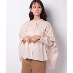 (MARcourt/マーコート)【mizuiro ind】back gatherd wide shirt/レディース PURPLE