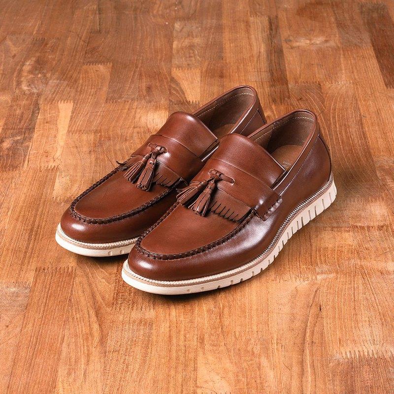 Own-way玩味街型紳士樂福鞋- Va265咖/白底