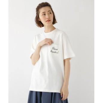 (BASECONTROL/ベースコントロール)カモフラ柄 ロゴ プリント 半袖 Tシャツ/レディース アイボリー(004)