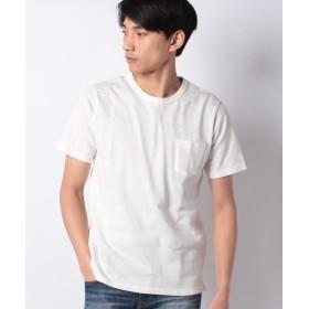 (B.C STOCK/ベーセーストック)ハニカムメッシュTシャツ/メンズ ホワイト