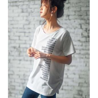 (GeeRa/ジーラ)プリントチュニックTシャツ/レディース ロゴ
