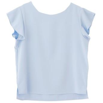 (aquagarage/アクアガレージ)花柄ブラウス/レディース solid: light blue