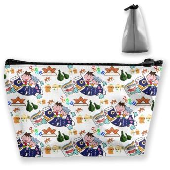 鯉のぼり こどもの日 化粧ポーチ メイクポーチ ミニ 財布 機能的 大容量 ポータブル 収納 小物入れ 普段使い 出張 旅行 ビーチサイド旅行