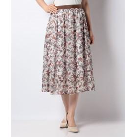 (ANAYI/アナイ) 【セットアップ対応商品】スモールフラワーギャザースカート/レディース ホワイト